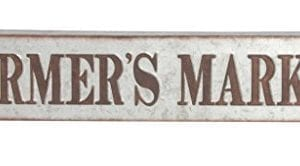 Deco 79 59449 Distressed Iron Farmers Market Wall Sign BrownGray 0 300x166