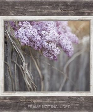 Farmhouse Decor 4 PRINT SET 8x10 Lilacs Country Decor Rustic Wall Art Country Print Set Of 4 Rustic Country Landscape Prints Or Canvases Farm Art Fixer Upper Wood Plank Photo 0 0 300x360