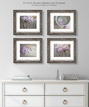 Farmhouse Decor 4 PRINT SET 8x10 Lilacs Country Decor Rustic Wall Art Country Print Set Of 4 Rustic Country Landscape Prints Or Canvases Farm Art Fixer Upper Wood Plank Photo 0 1 300x360