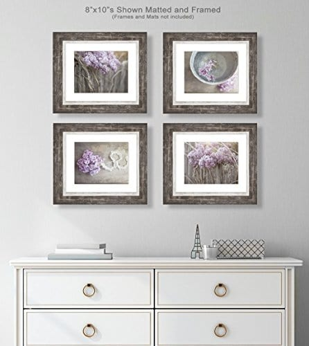 Farmhouse Decor 4 PRINT SET 8x10 Lilacs Country Decor Rustic Wall Art Country Print Set Of 4 Rustic Country Landscape Prints Or Canvases Farm Art Fixer Upper Wood Plank Photo 0 1