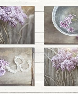 Farmhouse Decor 4 PRINT SET 8x10 Lilacs Country Decor Rustic Wall Art Country Print Set Of 4 Rustic Country Landscape Prints Or Canvases Farm Art Fixer Upper Wood Plank Photo 0 300x360