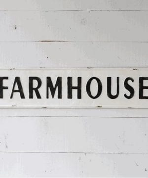 Farmhouse Embossed Painted Metal Sign For Rustic Farmhouse Home Decor 0 300x360