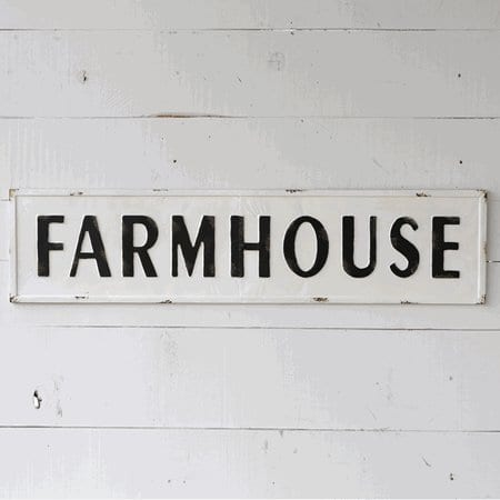 Farmhouse Embossed Painted Metal Sign For Rustic Farmhouse Home Decor 0