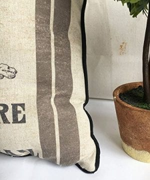 JuniperLab Farmhouse Bunny Vintage Easter Retro Primitive Old Feed Sack Cotton Linen Throw Pillow Covers Rabbit Hare Cushion Cover Shams 16 Square French Country Shabby Chic 0 2 300x360