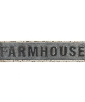 Kate And Laurel Okeene Large Vintage Farmhouse Sign Wall Art With Galvanized Metal 35 X 7 Inches 0 300x360