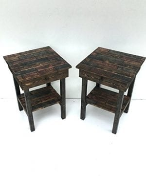 Night Stand Set With DrawerModern Farmhouse End TablesRustic Table Set Side TableBedside Table SetCustomFarmhouse Style Table Set 0 0 300x360