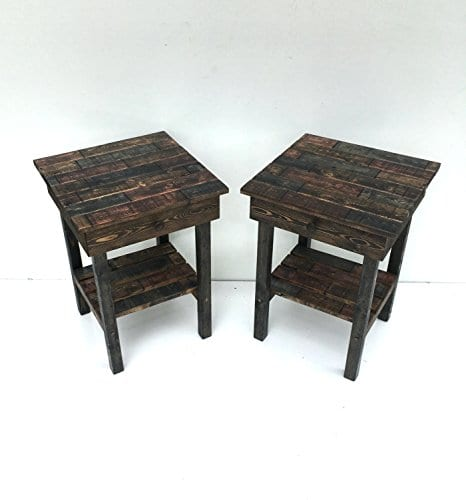 Night Stand Set With DrawerModern Farmhouse End TablesRustic Table Set Side TableBedside Table SetCustomFarmhouse Style Table Set 0 0