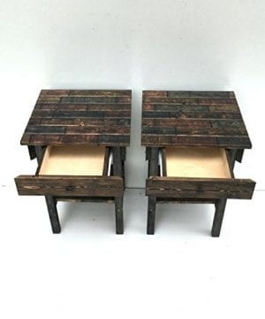 Night Stand Set With DrawerModern Farmhouse End TablesRustic Table Set Side TableBedside Table SetCustomFarmhouse Style Table Set 0 1 300x360