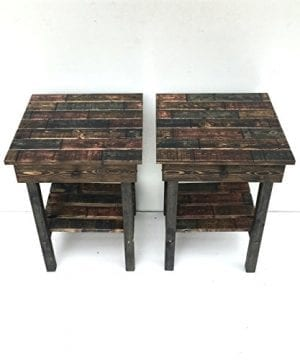 Night Stand Set With DrawerModern Farmhouse End TablesRustic Table Set Side TableBedside Table SetCustomFarmhouse Style Table Set 0 2 300x360