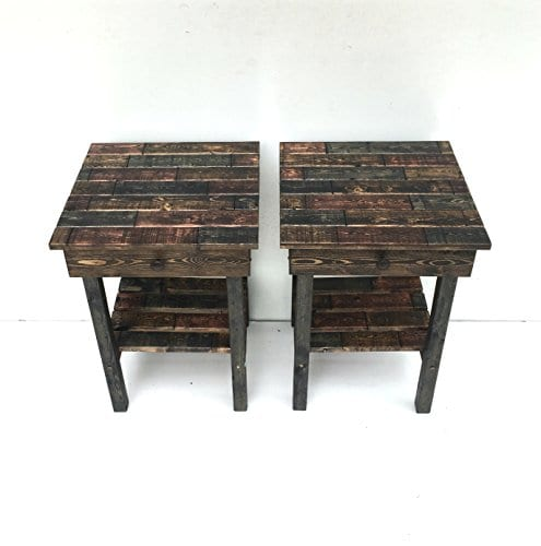 Night Stand Set With DrawerModern Farmhouse End TablesRustic Table Set Side TableBedside Table SetCustomFarmhouse Style Table Set 0 2