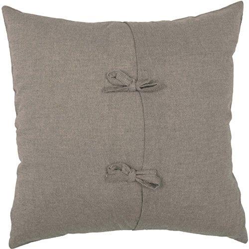 Piper Classics Farmhouse Cotton Pillow Cover 18x18 Taupe Grey Embroidered Cotton Boll Ball Wreath Accent Farmhouse Goals