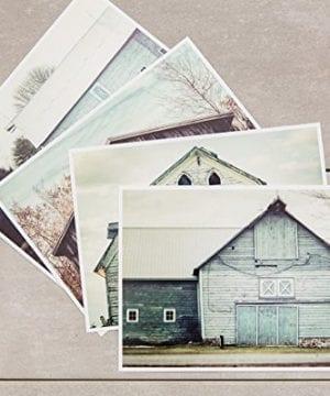 Rustic Farmhouse Decor Set Of 4 5x7 Aqua And Teal Barn Prints Fixer Upper Home Decor Wall Art 0 0 300x360