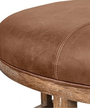 Stone Beam Norah Leather And Wood Round Ottoman 395 Saddle Brown 0 2 300x360