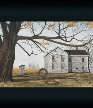 The Old Farmhouse By Billy Jacob Country Americana Rural Farm House Art Print Framed 0 300x346
