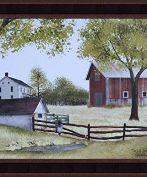 The Old Springhouse By Billy Jacobs 15x19 Farmhouse Barn Well Country Primitive Folk Art Framed Picture 0 300x360