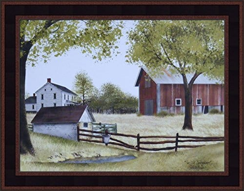 The Old Springhouse By Billy Jacobs 15x19 Farmhouse Barn Well Country Primitive Folk Art Framed Picture 0