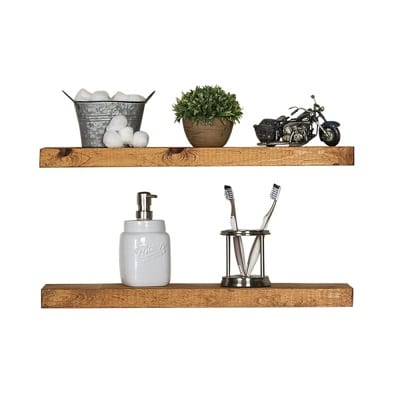 floating wall shelves walnut color