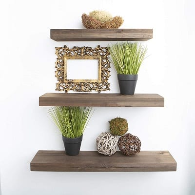 rustic farmhouse 3 tier floating shelf