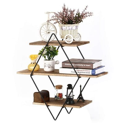 rustic farmhouse decor wall shelves
