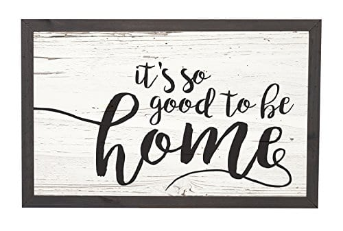 Its So Good To Be Home Distressed 18 X 11 Inch Solid Pine Wood Farmhouse Frame Wall Plaque 0