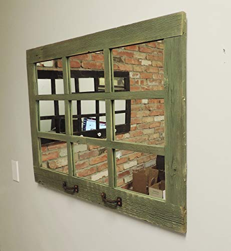 Barn Window Pane Mirror Homesteader Style 235 Inch X 3325 Inch 0 2