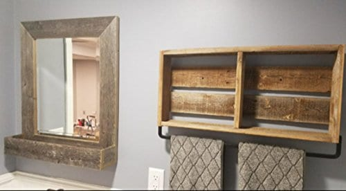 Barnwoodusa Large Farmhouse Mirror With Reclaimed Wood Shelf Rustic Wall Decor Farmhouse Goals