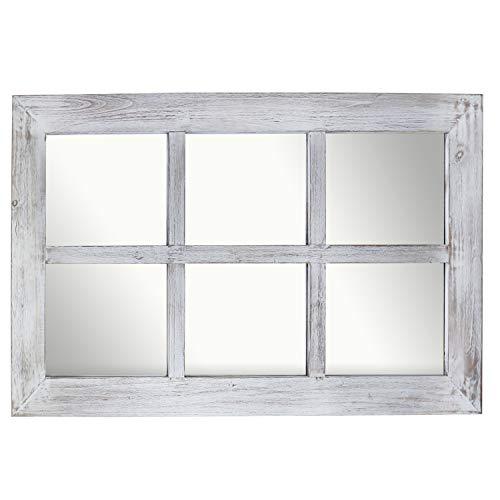 Barnyard Designs 24 X 40 Decorative, White Decorative Window Pane Mirror