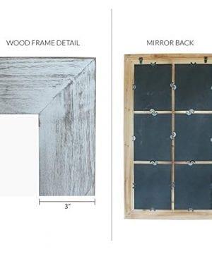 Barnyard Designs Decorative Windowpane Mirror Rustic Farmhouse Distressed Wood Vertical Hanging Mirror Wall Decor 40 X 24 0 3 300x360