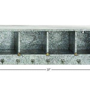 Deco 79 49161 Metal Wall Shelf Hook 37 X 12 0 0 300x300