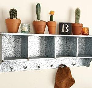 Deco 79 49161 Metal Wall Shelf Hook 37 X 12 0 1 300x285