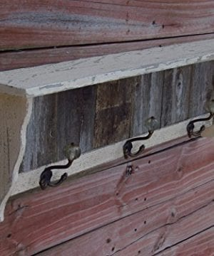 Distressed Coat Hook Wall Shelf Antique Looking Shelf Handmade In Texas With Reclaimed Weathered Cedar Farmhousefurnituretx 0 0 300x360