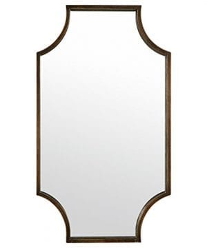Stone Beam Antique Style Metal Frame Mirror 32H Brown 0 300x360