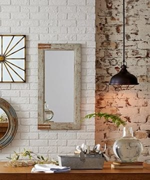 Stone Beam Vintage Look Rectangular Frame Mirror 3625H Grey 0 0 300x360