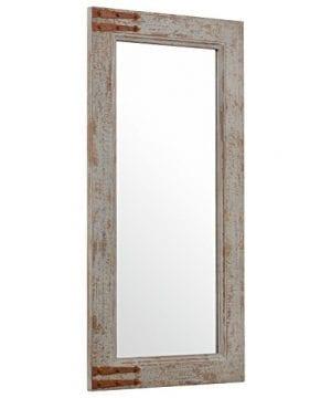 Stone Beam Vintage Look Rectangular Frame Mirror 3625H Grey 0 1 300x360