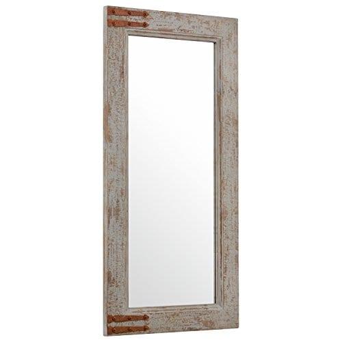 Stone Beam Vintage Look Rectangular Frame Mirror 3625H Grey 0 1