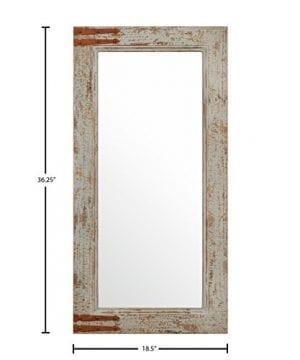 Stone Beam Vintage Look Rectangular Frame Mirror 3625H Grey 0 2 300x360
