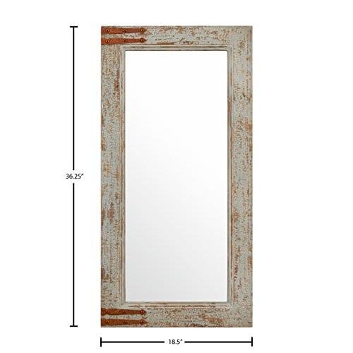 Stone Beam Vintage Look Rectangular Frame Mirror 3625H Grey 0 2