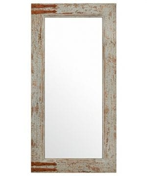 Stone Beam Vintage Look Rectangular Frame Mirror 3625H Grey 0 300x360