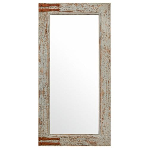 Stone Beam Vintage Look Rectangular Frame Mirror 3625H Grey 0