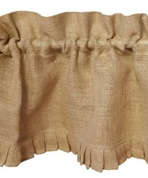 AT Primitive Country Burlap Ruffle Window Valance 0 300x360