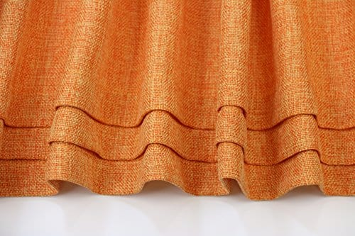 Aiking Home Solid Faux Linen Pleated Valance 56 By 14 Inches 0 1
