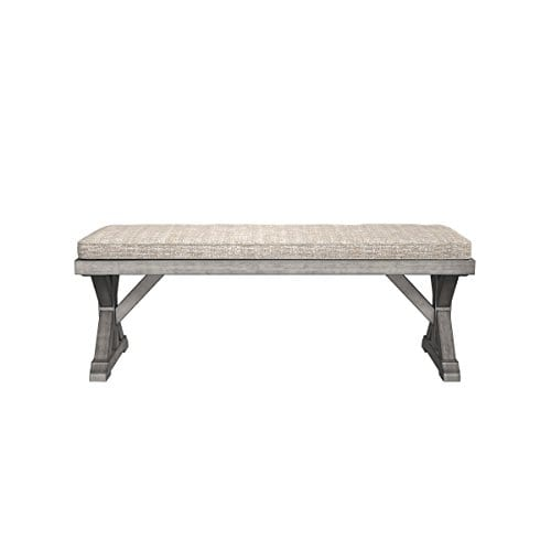 Ashley Furniture Signature Design Beachcroft Outdoor Bench With Cushion Dining Bench Removable Cushion Beige 0 1