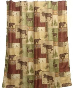 Bacova Guild Mountain Lodge Fabric Shower Curtain 0 300x360