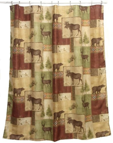 Bacova Guild Mountain Lodge Fabric Shower Curtain 0
