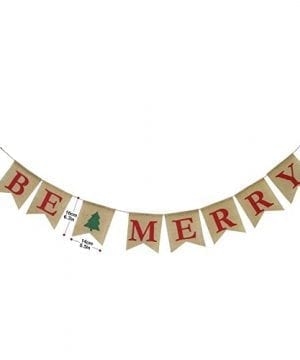 Be Merry Burlap Banner Christmas Burlap Banner Christmas Tree Garland Holiday Bunting Home Garden Indoor Outdoor Banner Natural Burlap Banner Christmas Decor Decorations 0 0 300x360