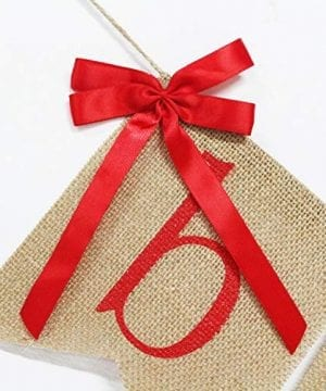 Be Merry Burlap Banner With Two Bow Ribbons Rustic Christmas Banner Bunting Holiday Decorations Christmas Party Decorations Perfect For Mantel Fireplace Hanging Decor 0 2 300x360