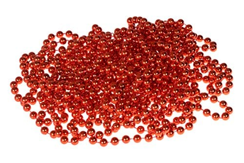 Bead Style Christmas Garland By Clever Creations Shiny 7mm Red Shatterproof Bead Garland Classic Traditional Christmas Theme Festive Holiday Dcor Measures 8m 2625 Long 0