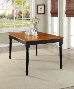 Better Homes And Gardens Autumn Lane Farmhouse Dining Table Black And Oak Easy To Assemble 0 300x360