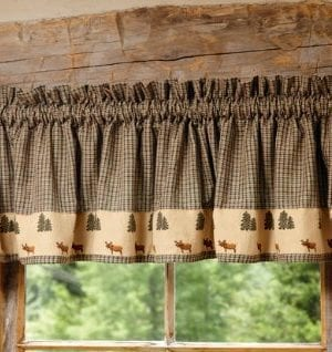 Black Forest Decor Northern Moose Plaid Rustic Valance Rustic Lighting 0 300x318