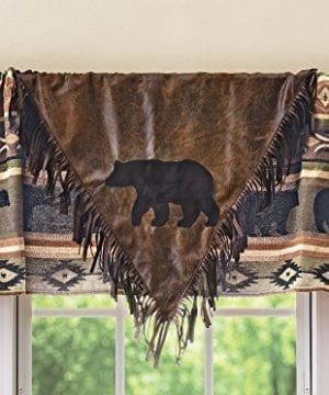 Black Forest Decor Timber Woods V Lodge Valance Rustic Window Decor 0 300x360